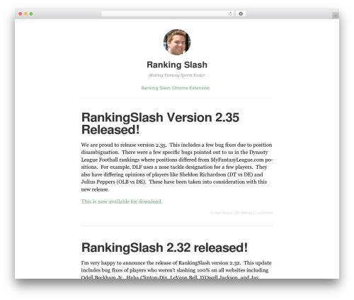 Independent Publisher WordPress theme - rankingslash.com