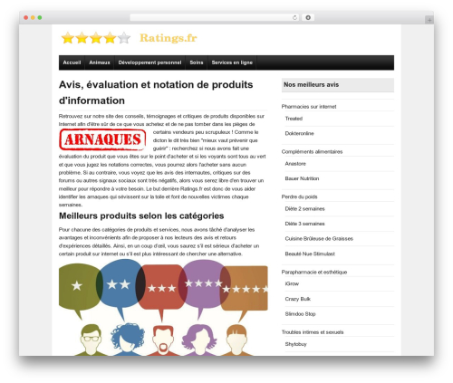 Ready Review WordPress template free download - ratings.fr