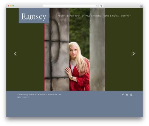 Salient WordPress theme - ramseyportraitart.com