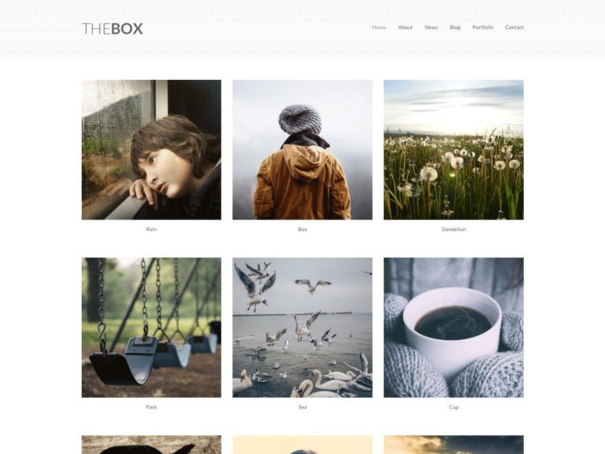 TheBox WordPress gallery theme