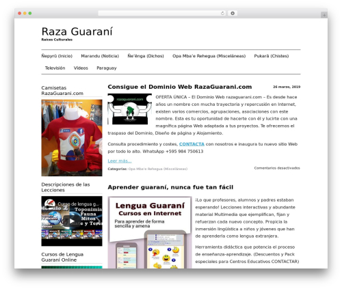 WordPress theme Black Line - razaguarani.com