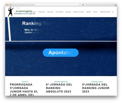 WordPress theme Enfold - rankingtenismadridlastablas.com