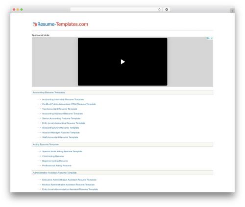 Free WordPress PS Auto Sitemap plugin - resume-templates.com