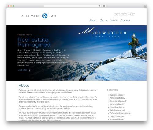 BLANK Theme premium WordPress theme - relevantlab.com