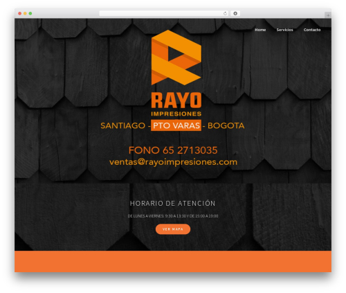 BLDR free WordPress theme - rayoimpresiones.com