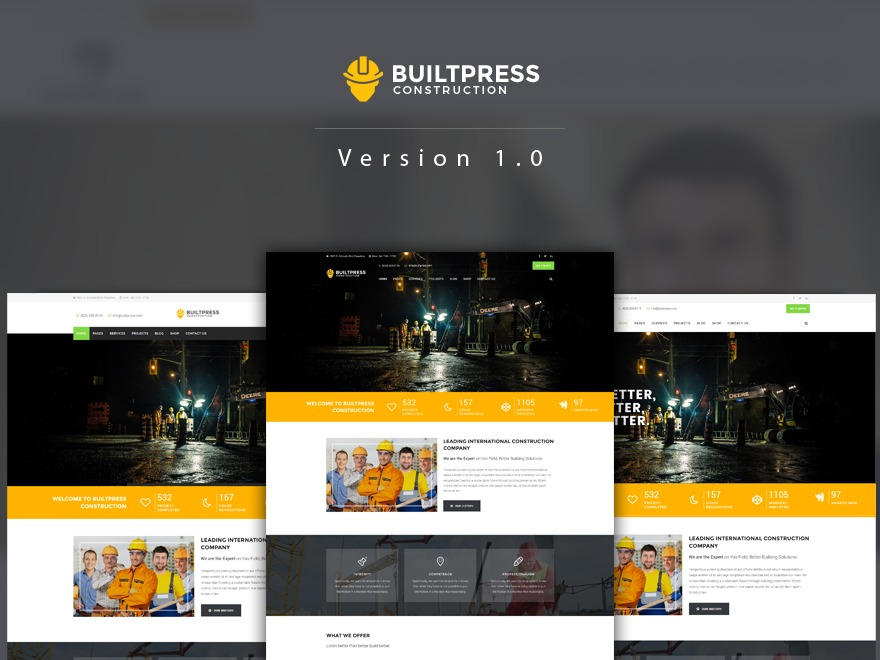 BuiltPress WordPress website template