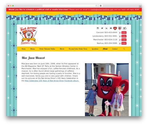 Catch Base Pro WordPress theme - redarrowdiner.com/about-the-red-arrow-diner/moe-java-mascot