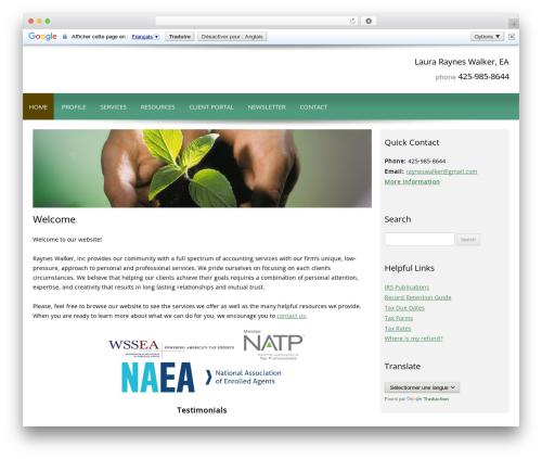 Customized WordPress theme - rayneswalker.com