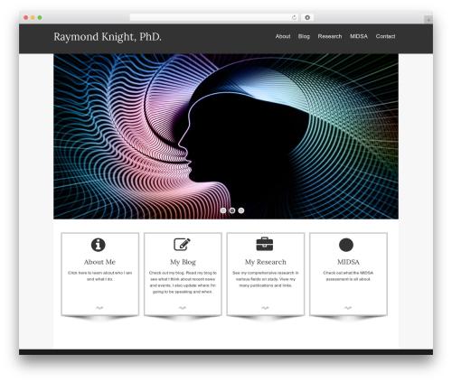 Isis Pro WordPress theme - raymondknightphd.com