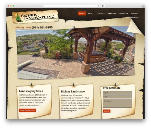 PressCore WordPress website template - richterlandscapeinc.com