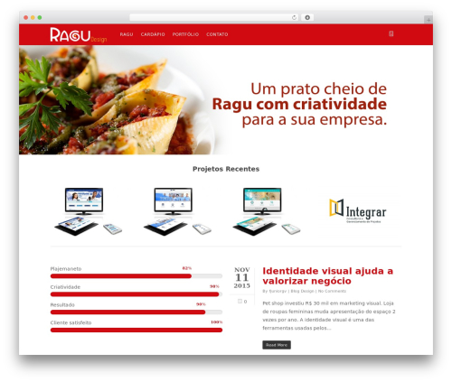 Salient best WordPress theme - ragudesign.com.br