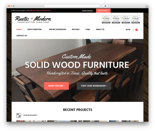 Suave top WordPress theme - rusticmoderncollection.com