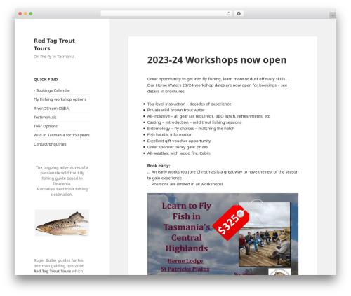 Twenty Fifteen template WordPress free - redtagtrout.com