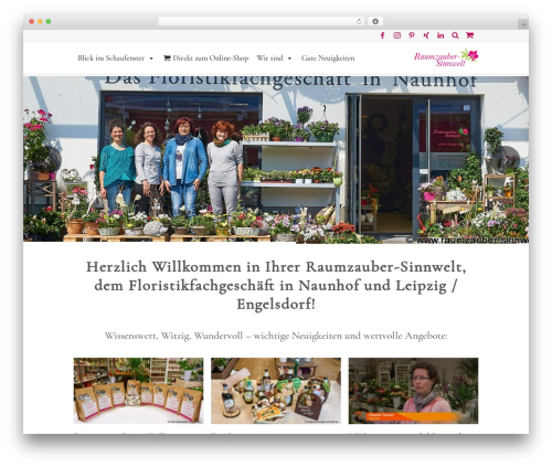 WordPress theme Lounge - raumzauber-sinnwelt.de