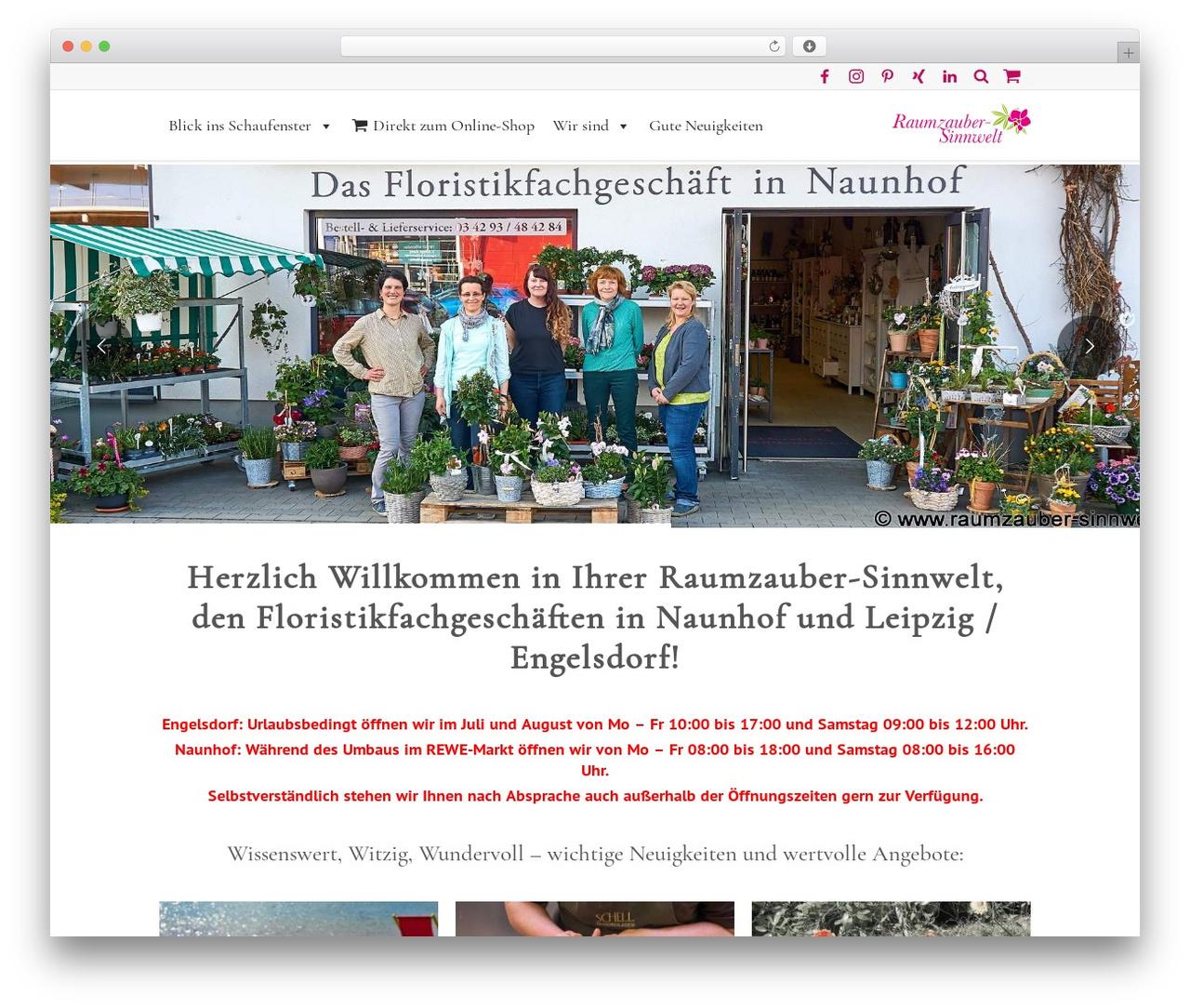 WordPress theme Lounge - raumzauber-sinnwelt.de