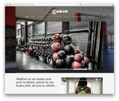 Workout fitness WordPress theme - rawgym.cz