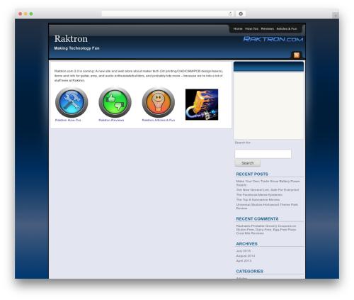 Affiliate Internet Marketing theme theme WordPress - raktron.com