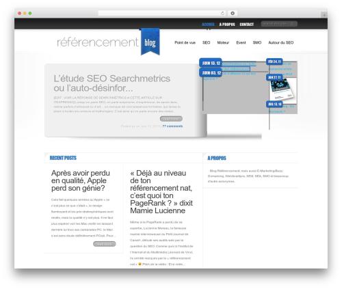 Delicate News WordPress blog template - referencement-blog.net