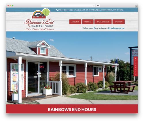 Divi WordPress ecommerce theme - rainbowsendmt.com