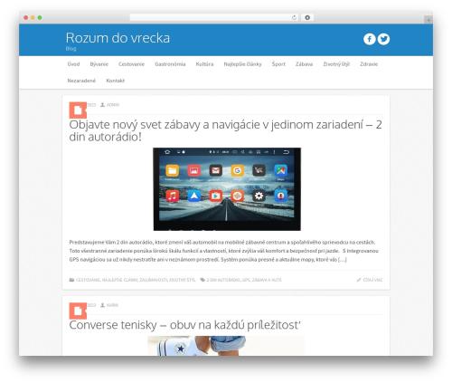 Icy template WordPress - rozumdovrecka.eu
