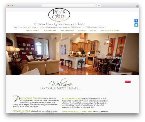 Jupiter WordPress theme - rockcreekvillas.com