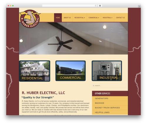 Nano2 WordPress theme design - rhuberelectric.com