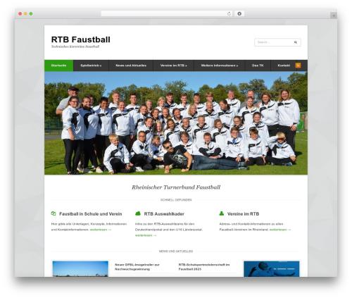 Pytheas top WordPress theme - rtbfaustball.de
