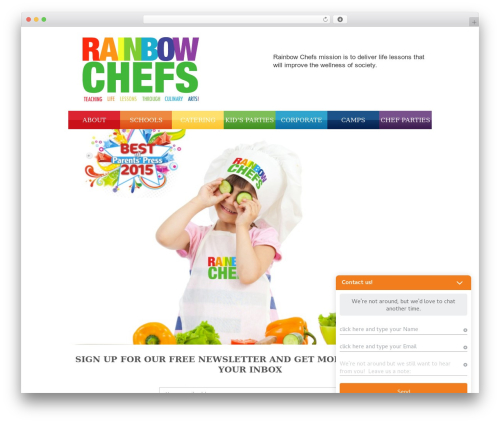 Sevenwonders WordPress page template - rainbowchefs.com