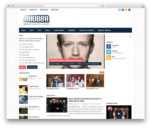 Theme WordPress Eris - rhubba.com