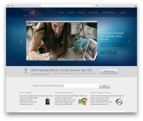 WordPress website template Envision Parent - remajahost.com