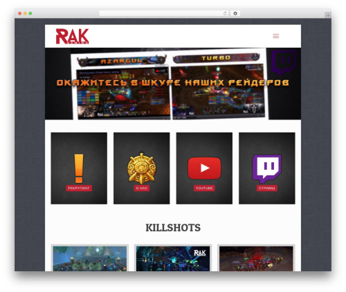 Betheme WP template - rakgaming.org