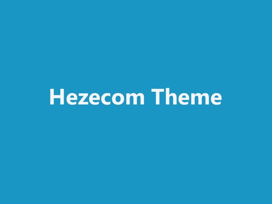 Hezecom WordPress news theme