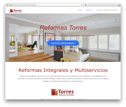 Modular premium WordPress theme - reformastorres.es
