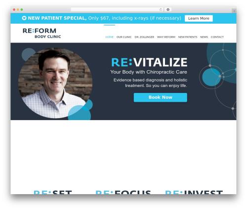 Reform WordPress theme - reformbodyclinic.ca