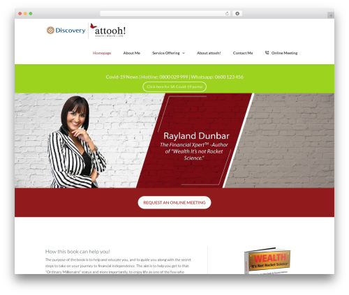 Theme WordPress TheFox - raylanddunbar.co.za