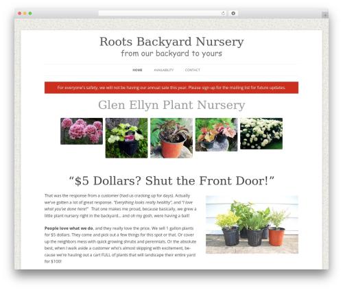 Free WordPress Grid Columns plugin - rootsbackyardnursery.com