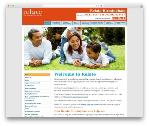WordPress theme Relate2014 - relatebirmingham.co.uk