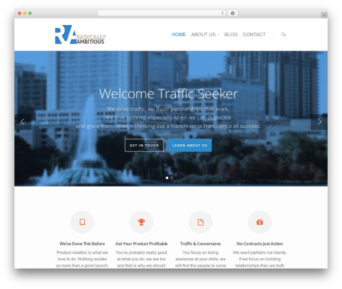WordPress website template Salient - radicallyambitious.com