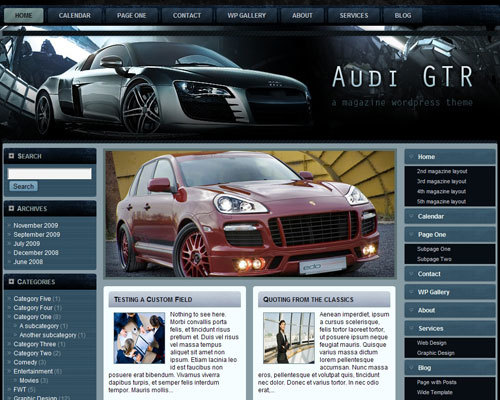 audi_gtr_fleximag WordPress news theme