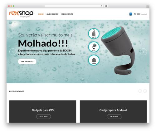 Captiva WordPress store theme - rexshop.com.br