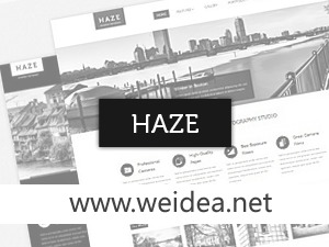 Haze (shared on weidea.net) best portfolio WordPress theme
