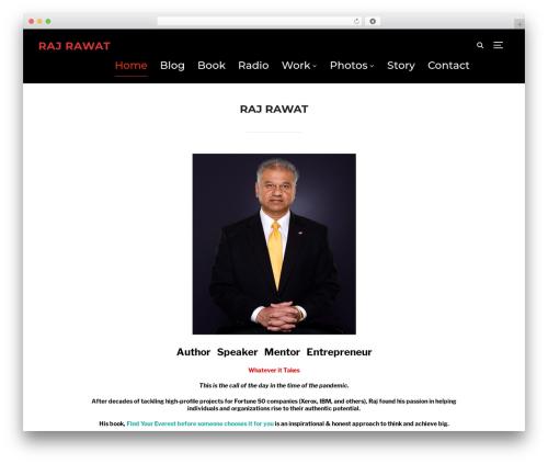 Inspiro WordPress theme - rajrawat.com