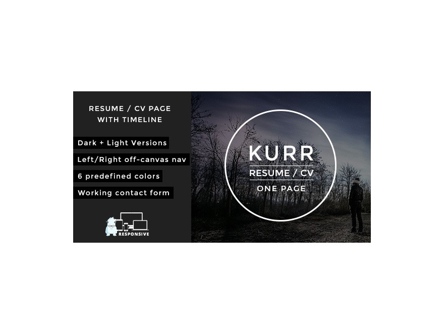 Kurr WordPress portfolio template