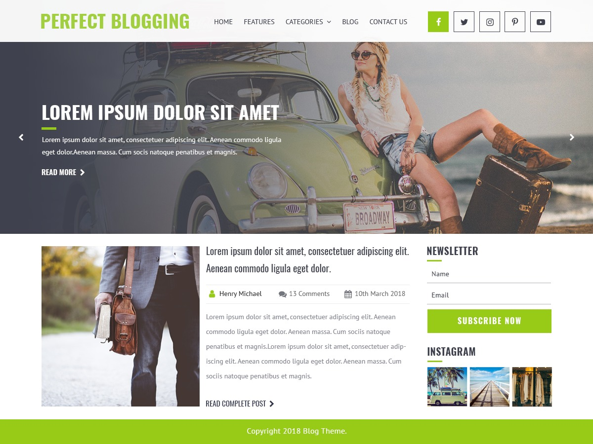 Perfect Blogging WordPress news template