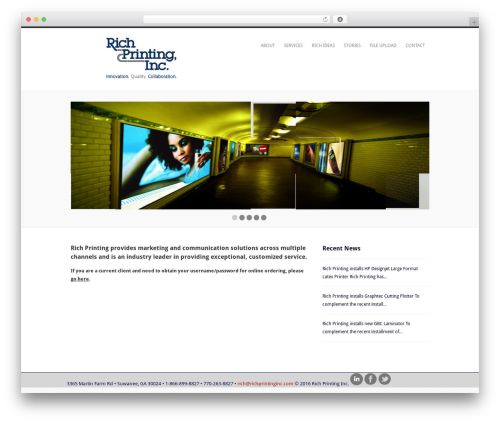 Performs WP theme - richprintinginc.com