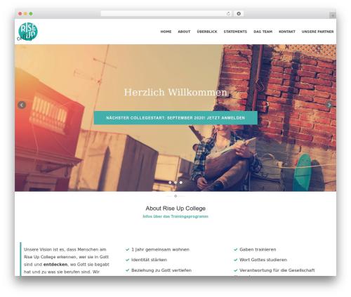Pixova WordPress theme - riseup-college.ch