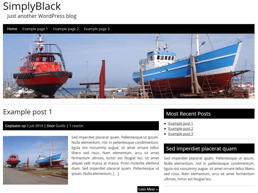 SimplyBlackNew WordPress blog theme