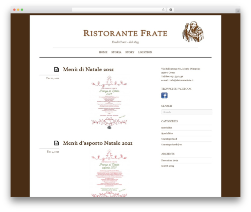 WordPress theme Elemin - ristorantefrate.it
