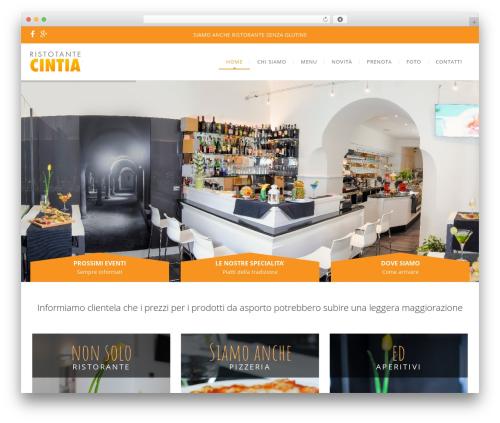 WP Nuvo WordPress theme - ristorantecintia.net