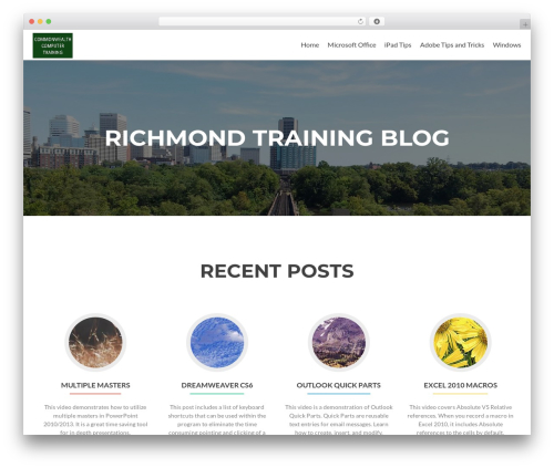 Zerif Lite theme free download - richmondtrainingblog.com